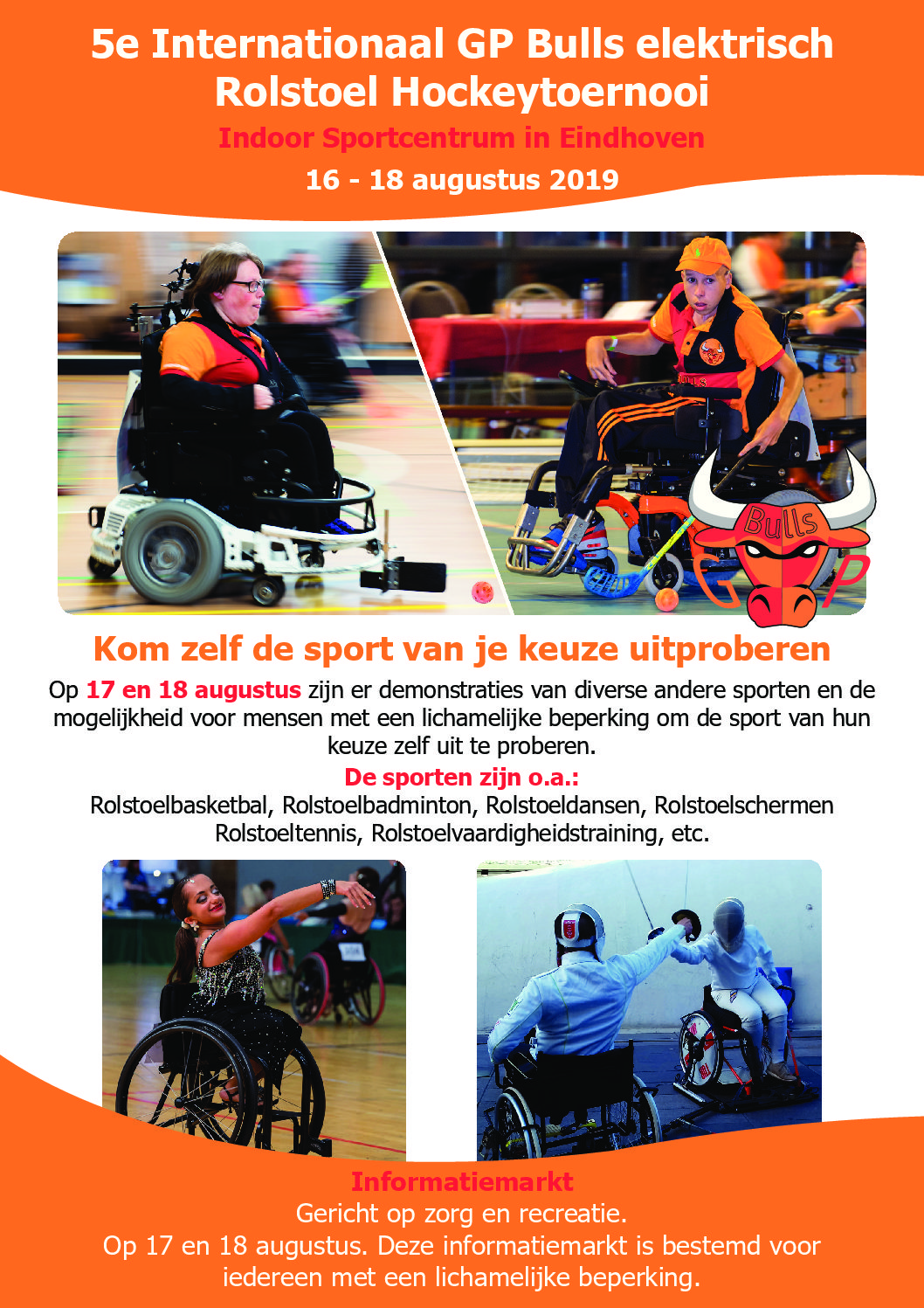 Flyer internationaal toernooi